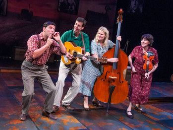 """""""THIS LAND IS YOUR LAND"""" RINGS OUT IN CENTER REPS TERRIFIC PRODUCTION OF WOODY SEZ"""