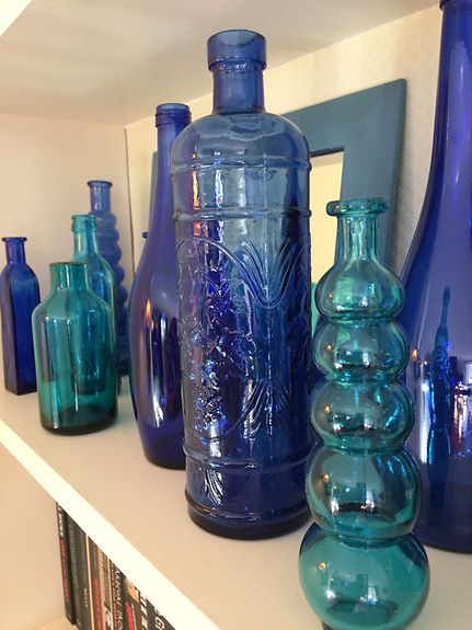 Collection of Blue Bottles