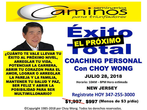 EXITO TOTAL COACHING NEW JERSEY