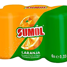 Sumol Orange/Passionfruit/Pineapple Can Pack of 6