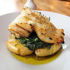 Grilled Cod Fish w/ Potato & Vegetables