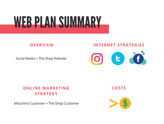 Moschino Pop Up Shop Web Plan Summary