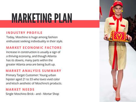 Moschino Pop Up Shop Marekting Plan