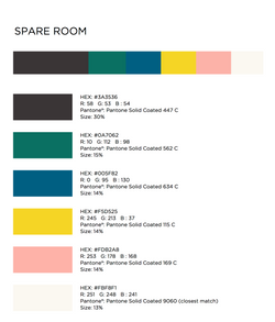 SPARE ROOM Color Sources
