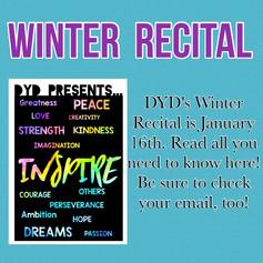 2021 Winter Recital