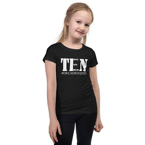 DYD Ten Year Anniversary Girl's Fitted Tee