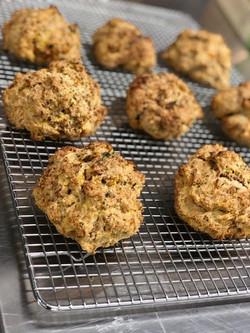 Vegan homemade Honey-nut squash Scones