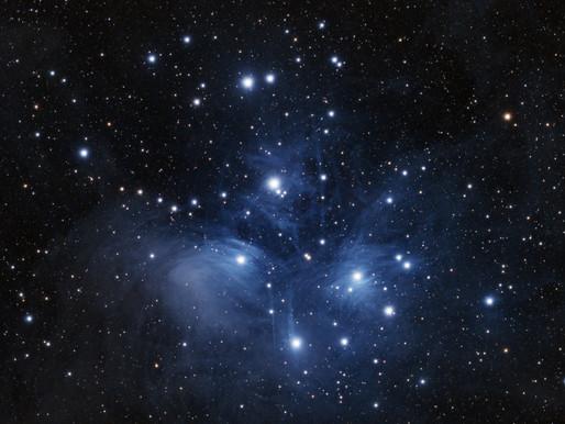 Strike three, the mighty pleiades - M45
