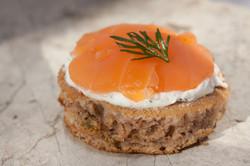 Blinis saumon chantilly citron