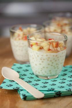 Perles du Japon et pommes gingembre