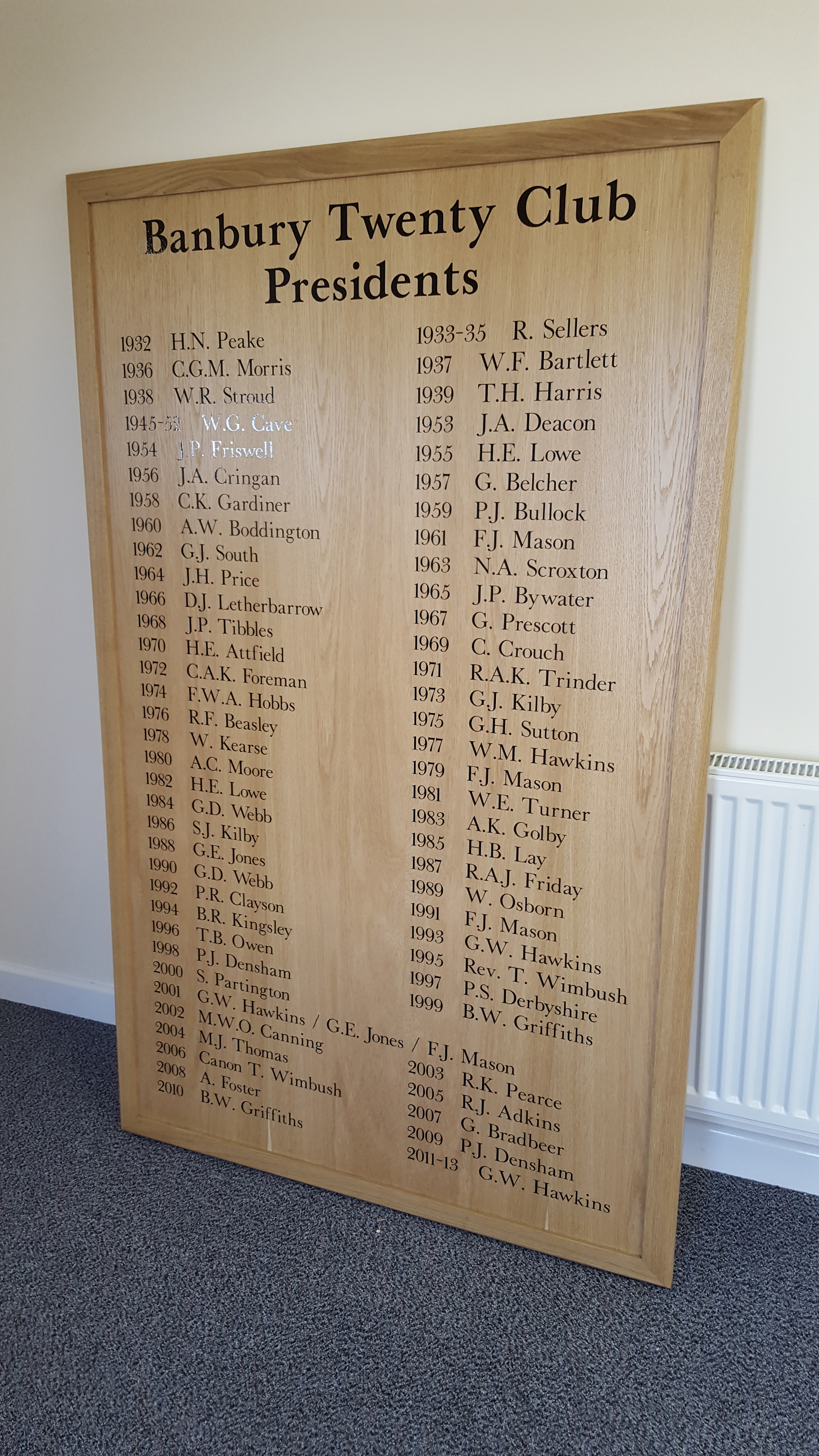 Honours Boards Signwriting