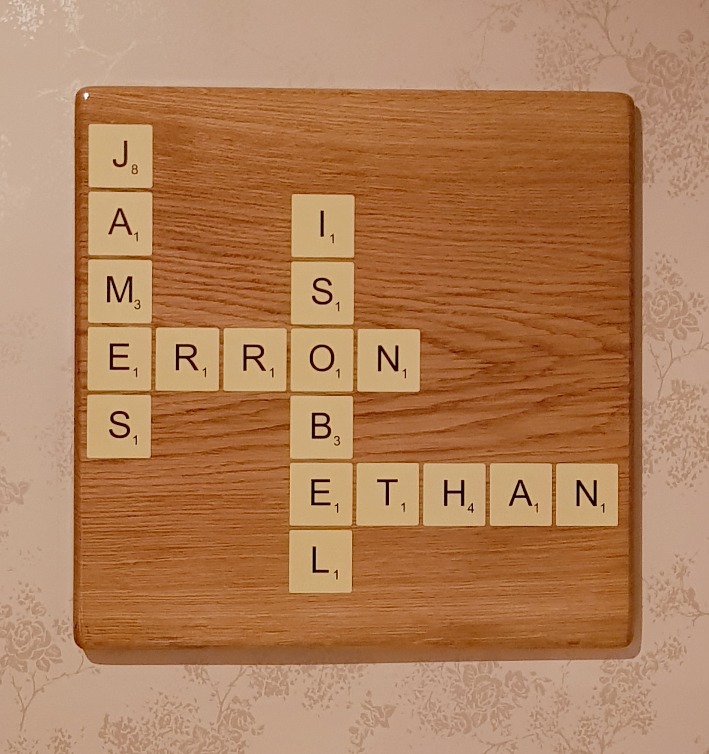Family Scrabble Tile Plaque