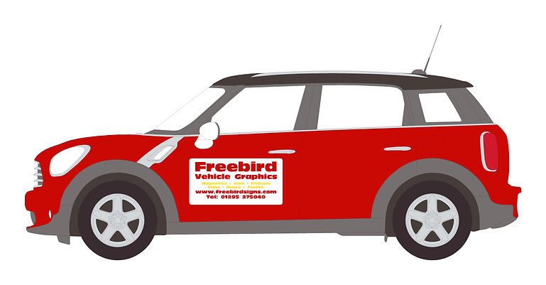 Car Magnetic Signwriting | Banbury | Freebird Sign Services