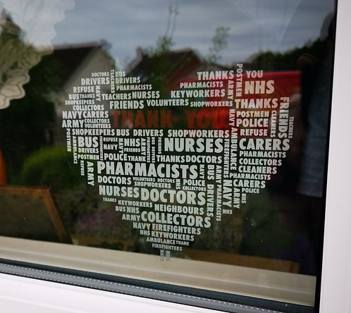 'Thank You' Static Window Graphic