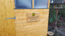 Garden shed plaque