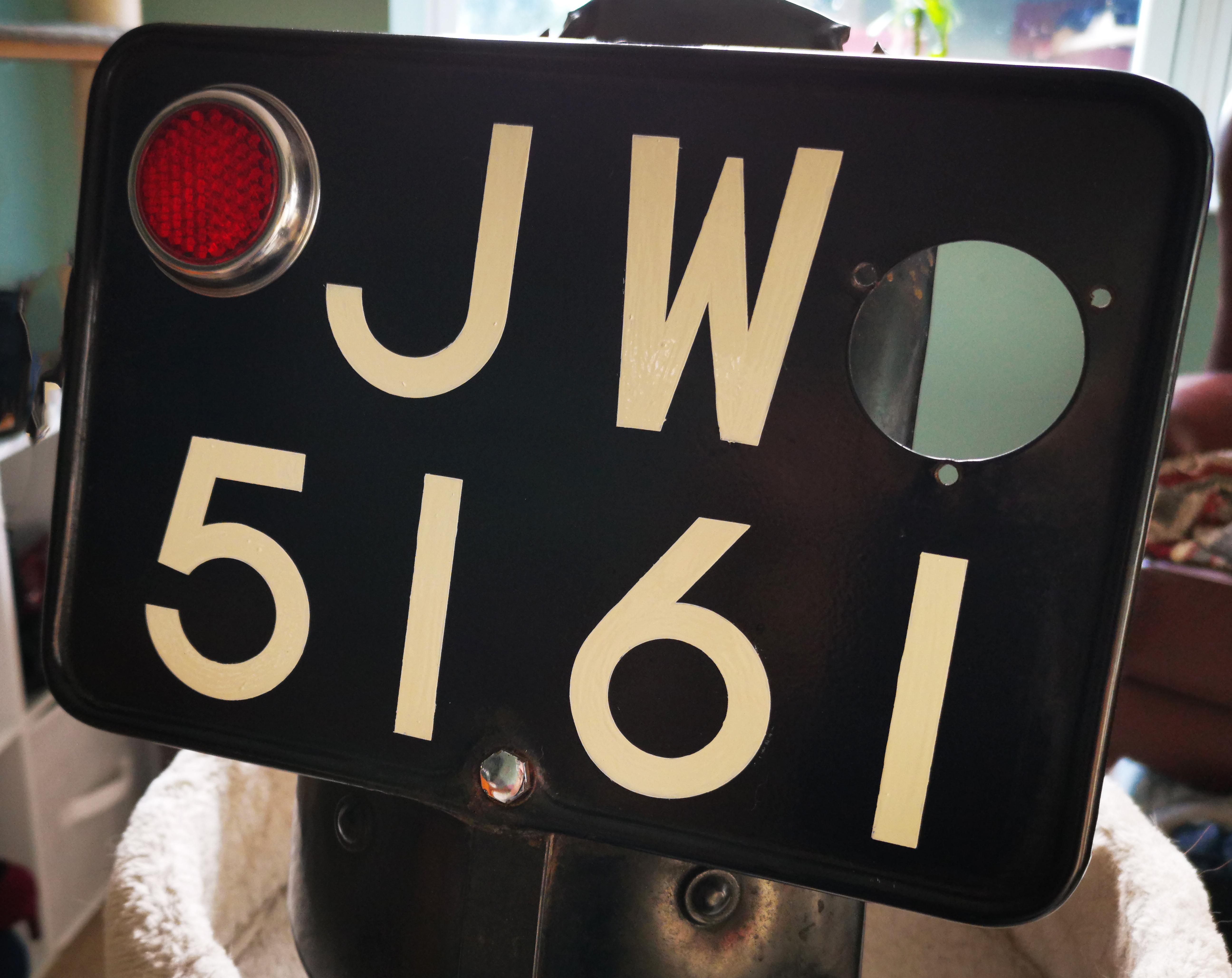 Signwritten Numberplate