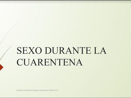 Cursos de Cuarentena II: Sexo durante la pandemia