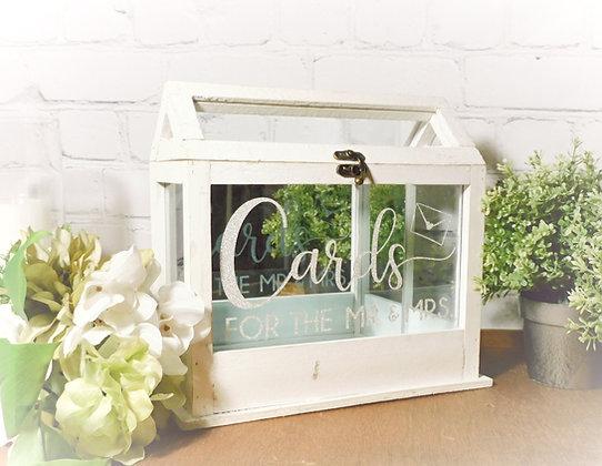 White Farmhouse Terrarium Card Box