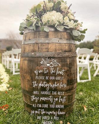 Vintage Whiskey Barrel
