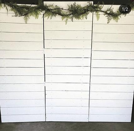 White Panel Tri Fold Backdrop