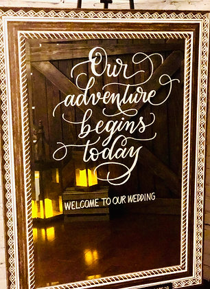"Mirror ""Our Adventure Begins Today"""