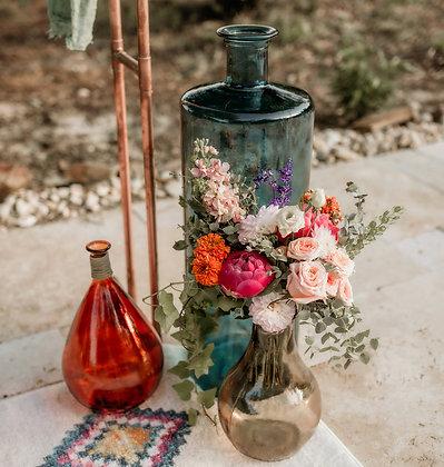 Jewel Toned Large Vases, Set of 3