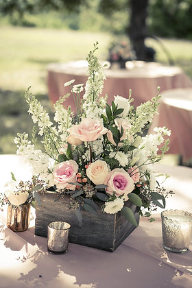 Rustic Wood Floral Box