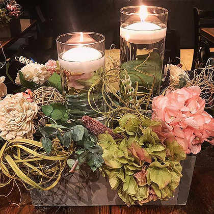 Vase with Floral Box Bundle