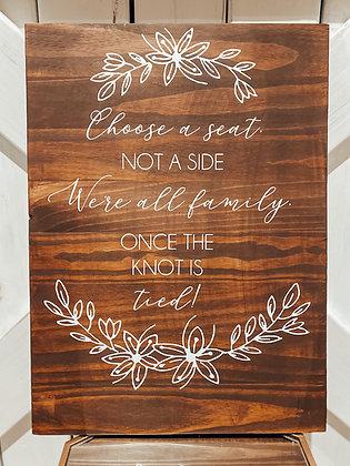 Large, Rustic Wedding Sign Set