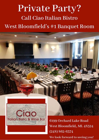 West Bloomfield's larges banquet room