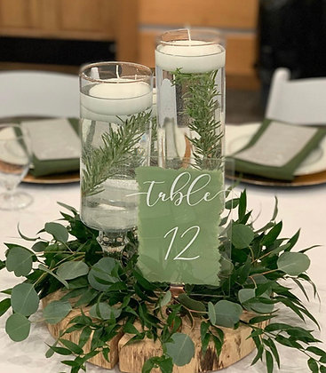 Vase and Table Number Bundle