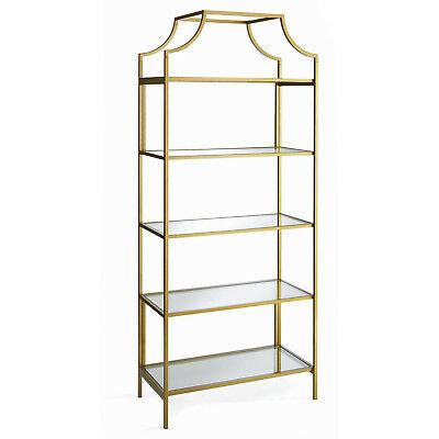Gold & Glass Etagere Shelf