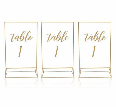 Gold Trim Acrylic Table Numbers