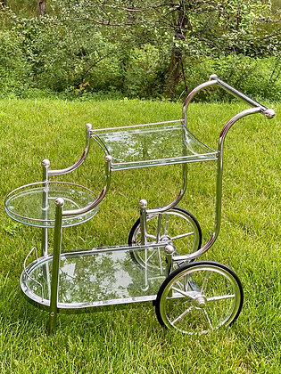 Vintage Silver Tea Cart