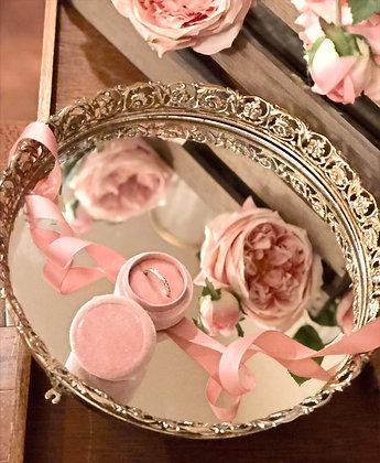 Vintage Mirror & Blush Ring Box Set