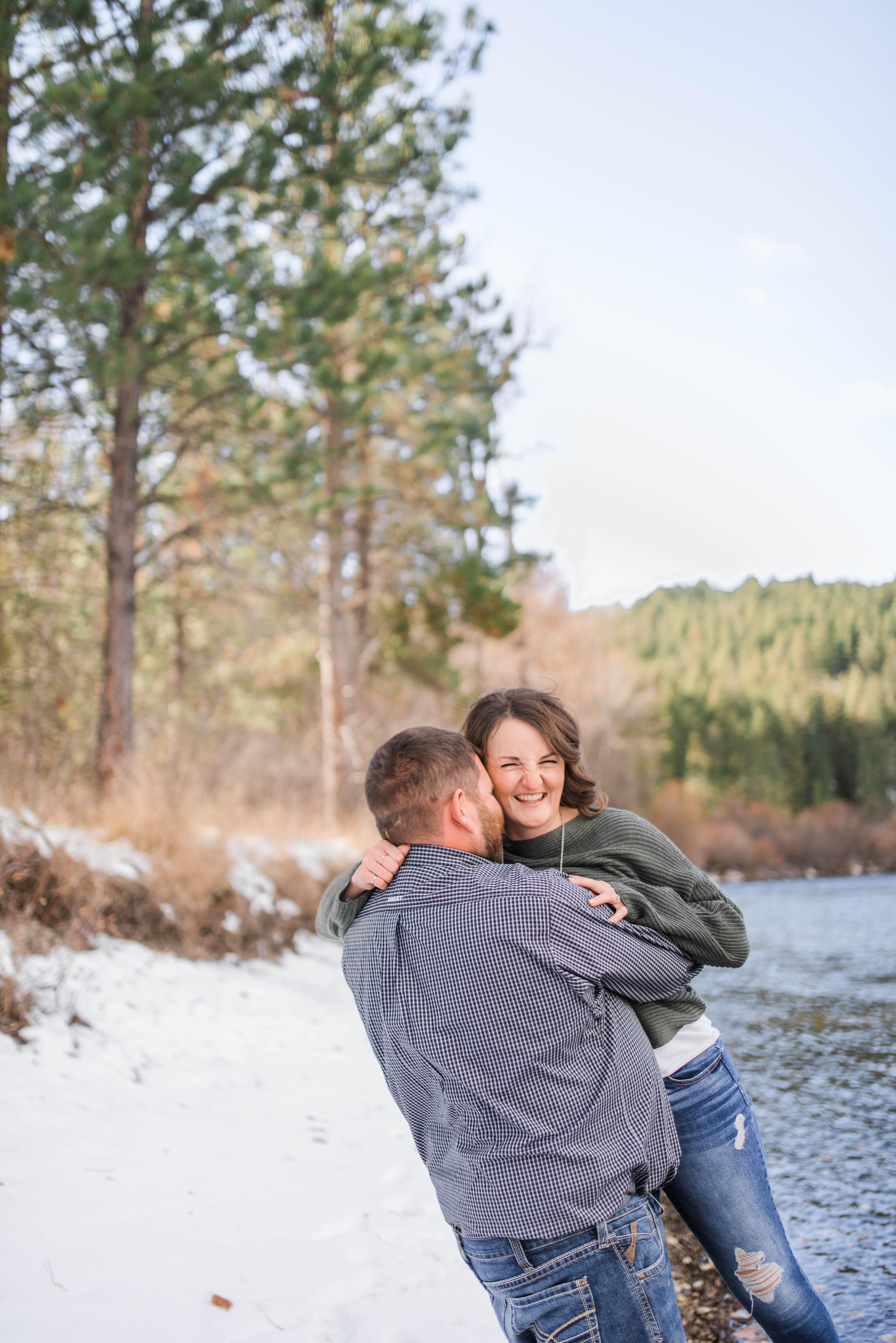 Missoula Montana Winter Engagement