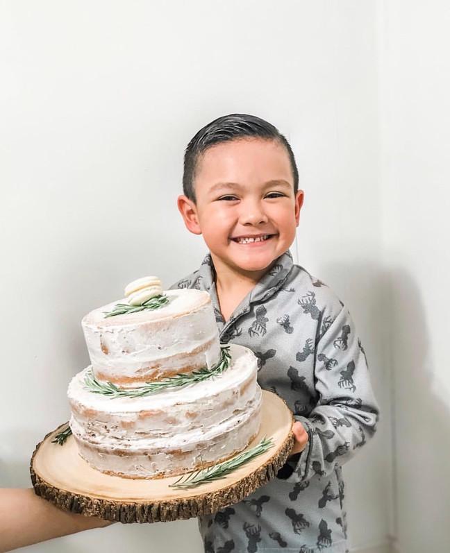 Magnolia Inspired Naked Cake Recipe | Loyola Sacred Heart and St. Joseph Catholic School Bash Event