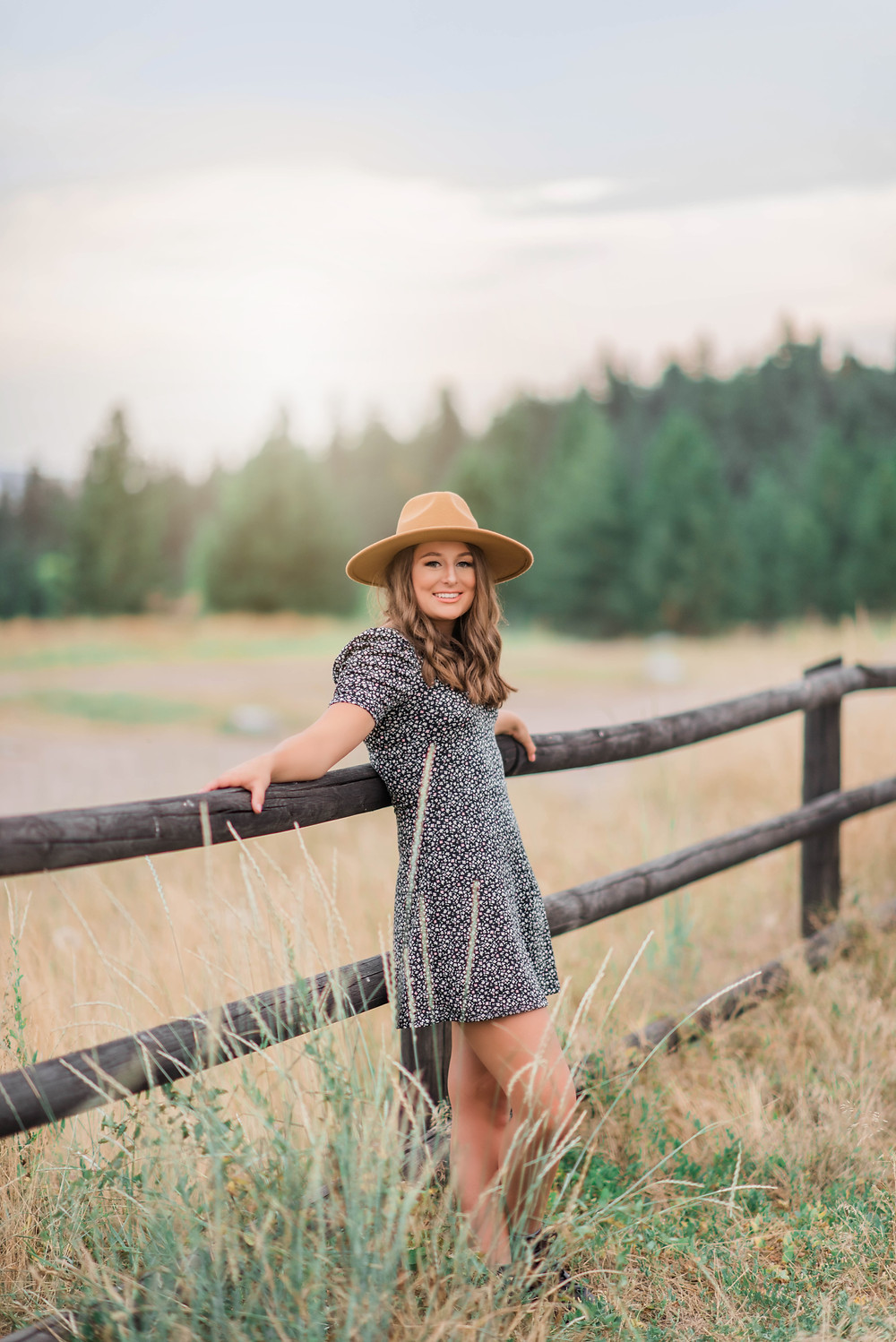 Aubrey Tuss posing for her senior portrait session with Infinite Photography Missoula. Aubrey will be graduating from Anaconda High School with the class of 2021.