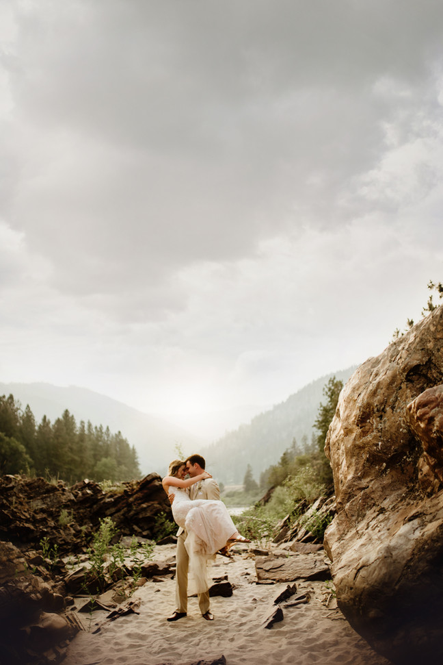 Smoky + Ethereal Summer White Raven Venue Wedding | Infinite Photography and Film