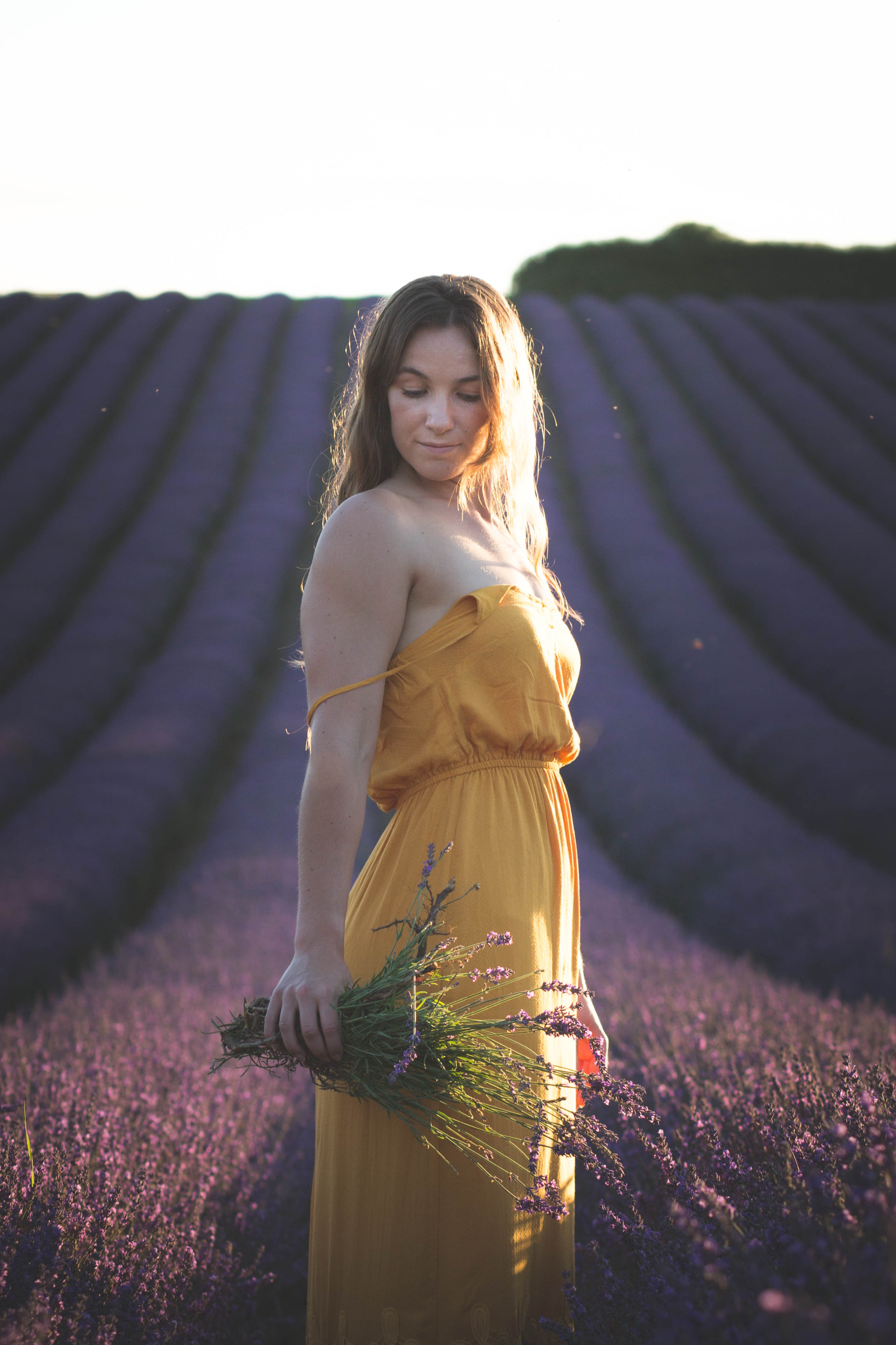 Womens Lavender Photoshoot