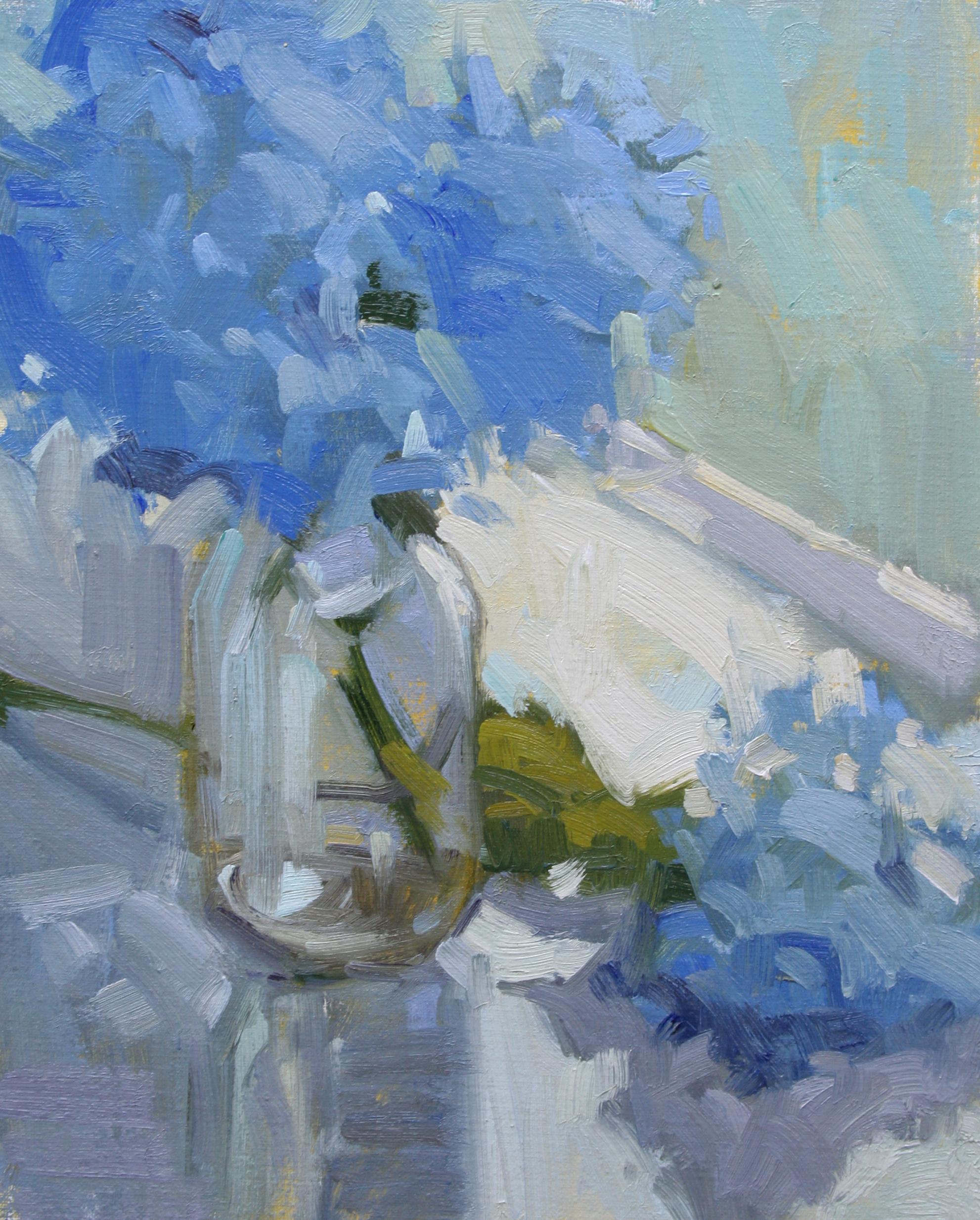 Blue Hydrangeas   12x16