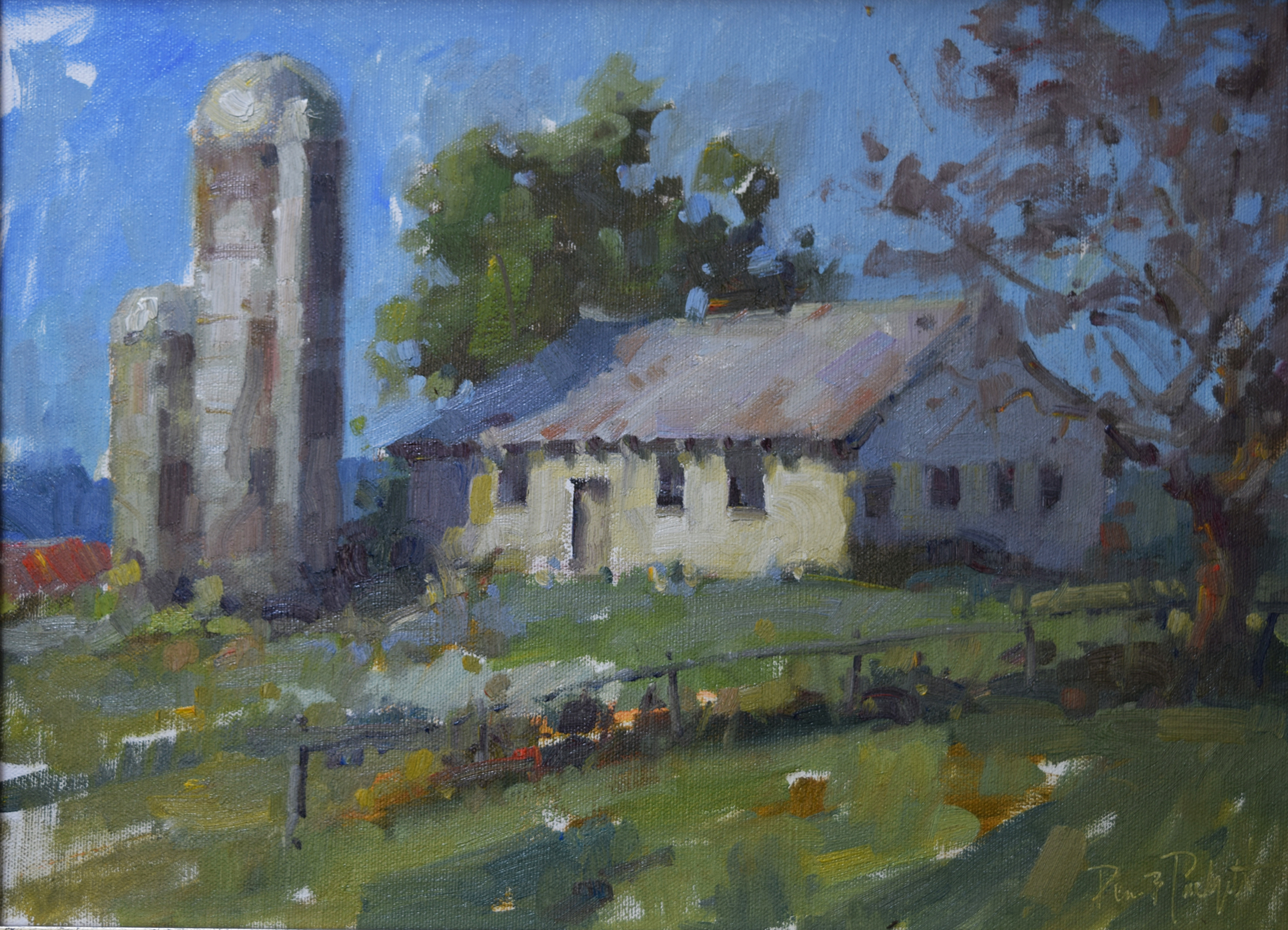 The Old Mild Barn   12x16  SOLD
