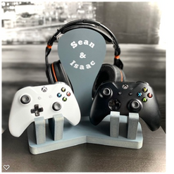 Personalised double controller/headset stand £29