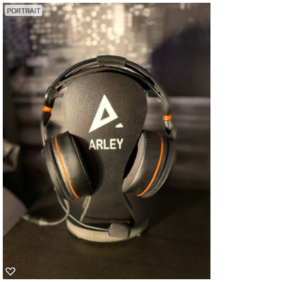 Personalised headset stand £20