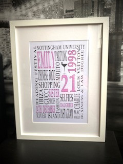 A3 Word Art Frame £40