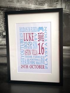 A3 Word Art Frame £40