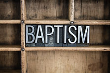 "The word ""BAPTISM"" written in vintage me"