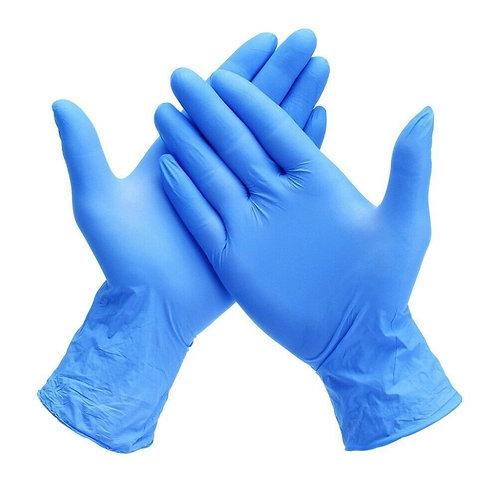 Powder Free Blue Nitrile Gloves- 100/ct.