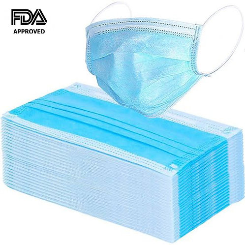 3 Ply Disposable Mask- 50/ct.