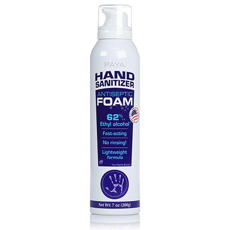Paya® Hand Sanitizer Antiseptic Foam 7 oz.- Single or Case